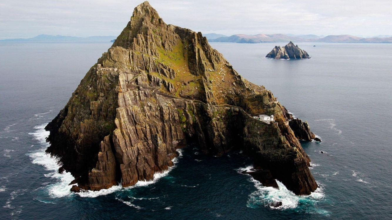 愛爾蘭旅遊景點凱里郡斯凱利格邁克爾島 Skellig Michael County Kerry Ireland