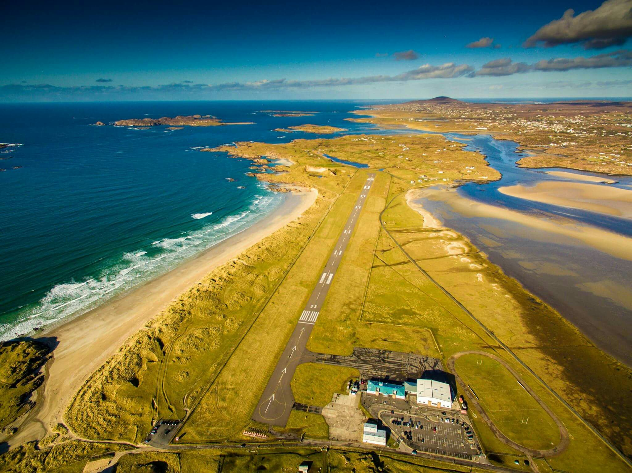 Donegal Airport Ireland was voted in at number 7 most scenic airports in the world in year 2016