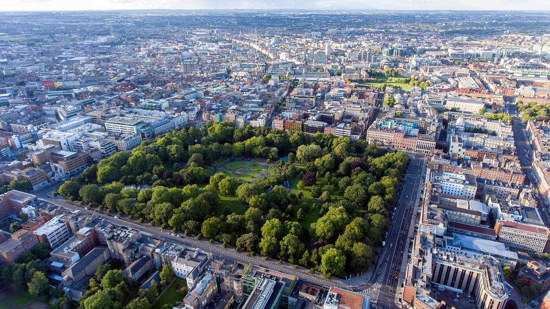 愛爾蘭旅遊景點都柏林巿中心公園 St Stephen's Green County Dublin Ireland