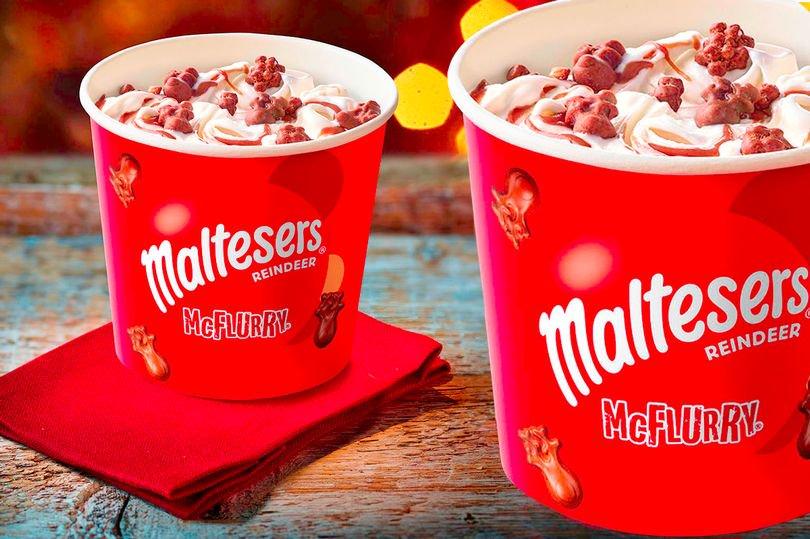 愛爾蘭聖誕節麥當勞聖誕麥旋風 Christmas in Ireland Malteser reindeer McFlurry