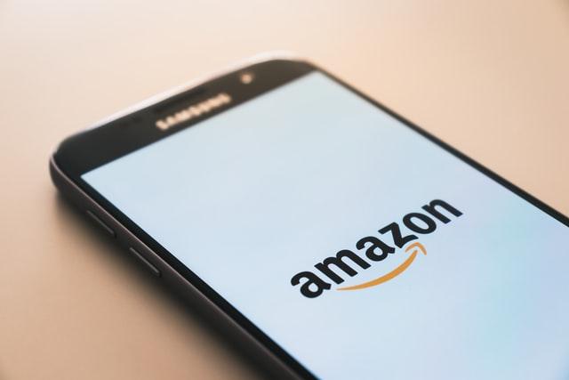 Amazon app icon on smartphone