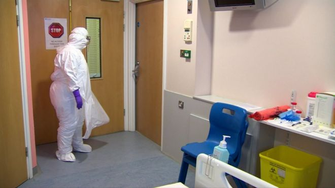 People with infectious diseases can be treated at an isolation ward at the Royal Victoria Hospital