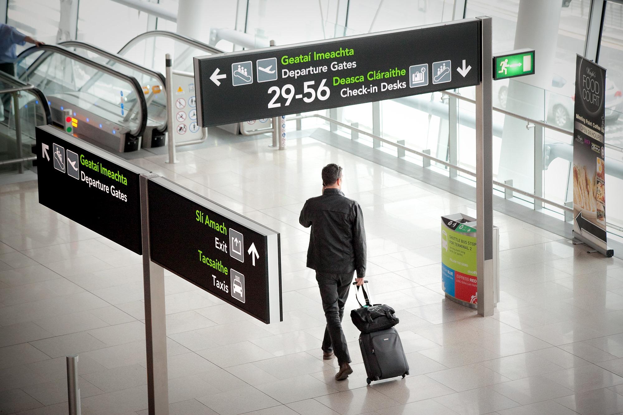 Dublin Airport passenger