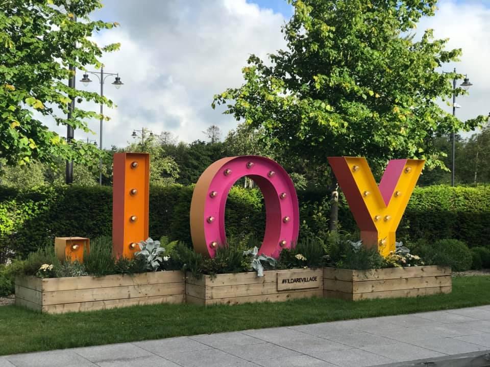 Kildare Village joy sign