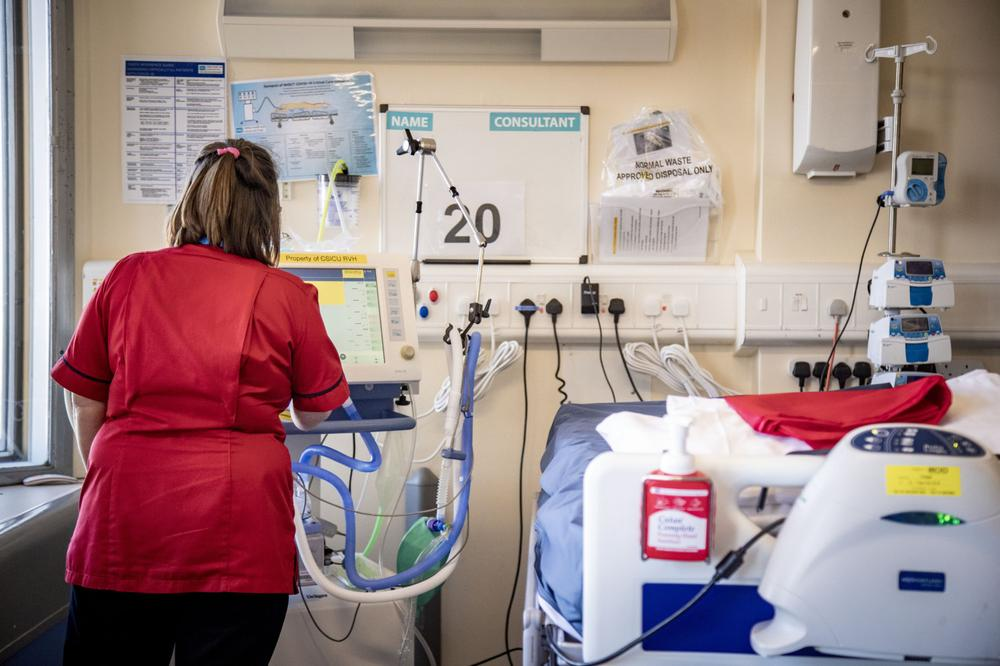 Covid-19 ward in the Nightingale hospital Belfast
