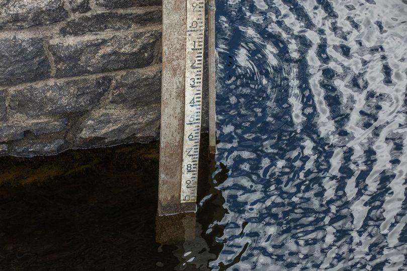 water levels drop