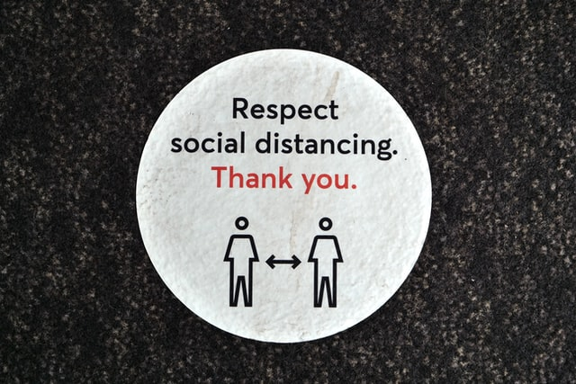 Respect Social Distancing thank you sign