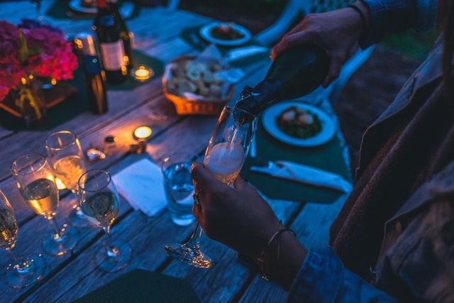 outdoor drink in evening
