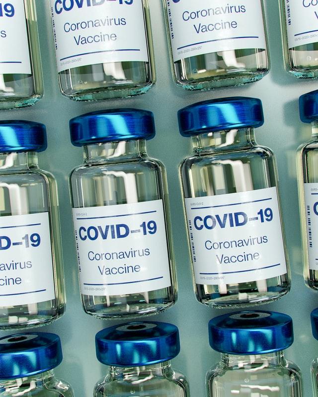 covid 19 vaccine bottle mockup