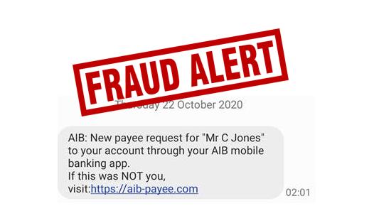 AIB Fraudulent sms alert