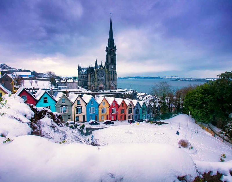 Cobh Co Cork cover in snow