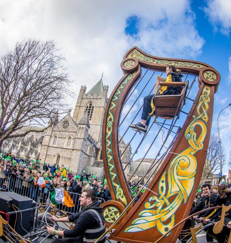 Harp in St Patricks Festival parade