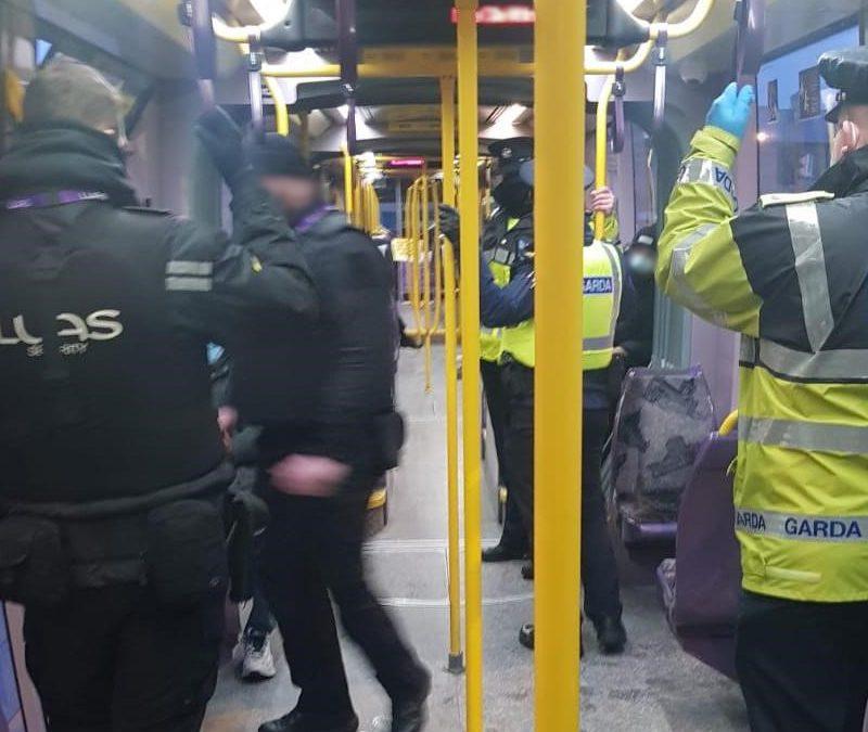 Garda checking Luas