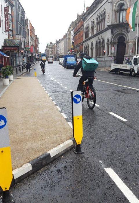 cycle lane dame street dublin
